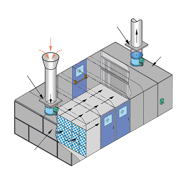 Paint Spray Rooms Sample System Drawing Sprayfan